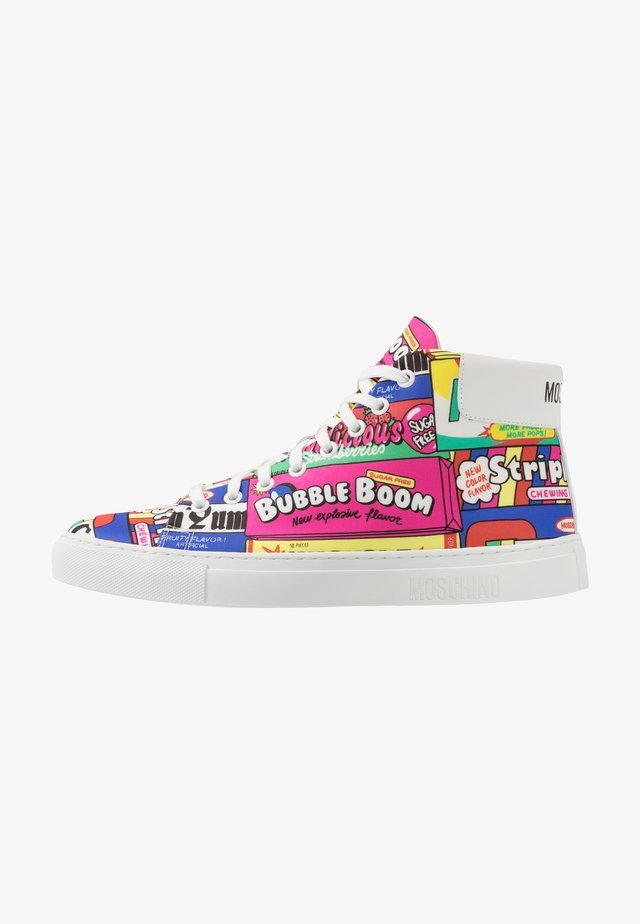 High-top trainers - multicolour