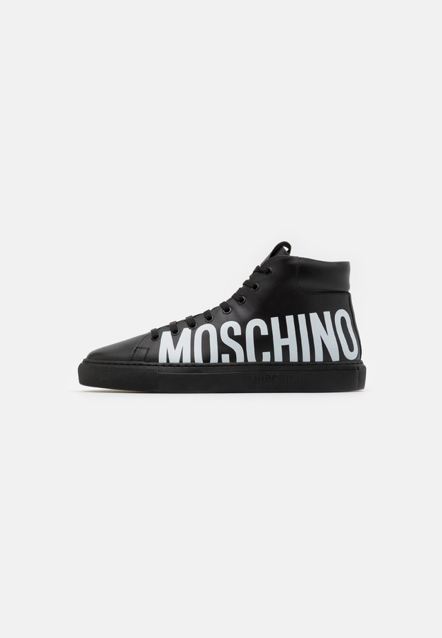 High-top trainers - black/white