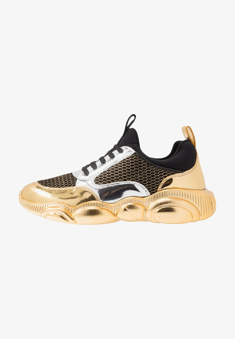 MOSCHINO - Sneakers basse - black/white/gold