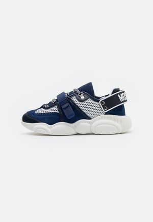 Baskets basses - bianco/blu