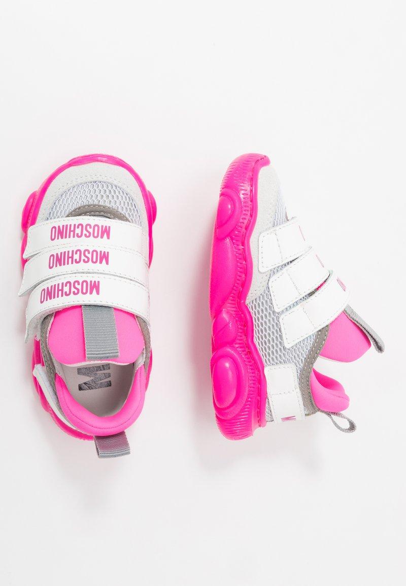 MOSCHINO - Sneakers - white/neon pink