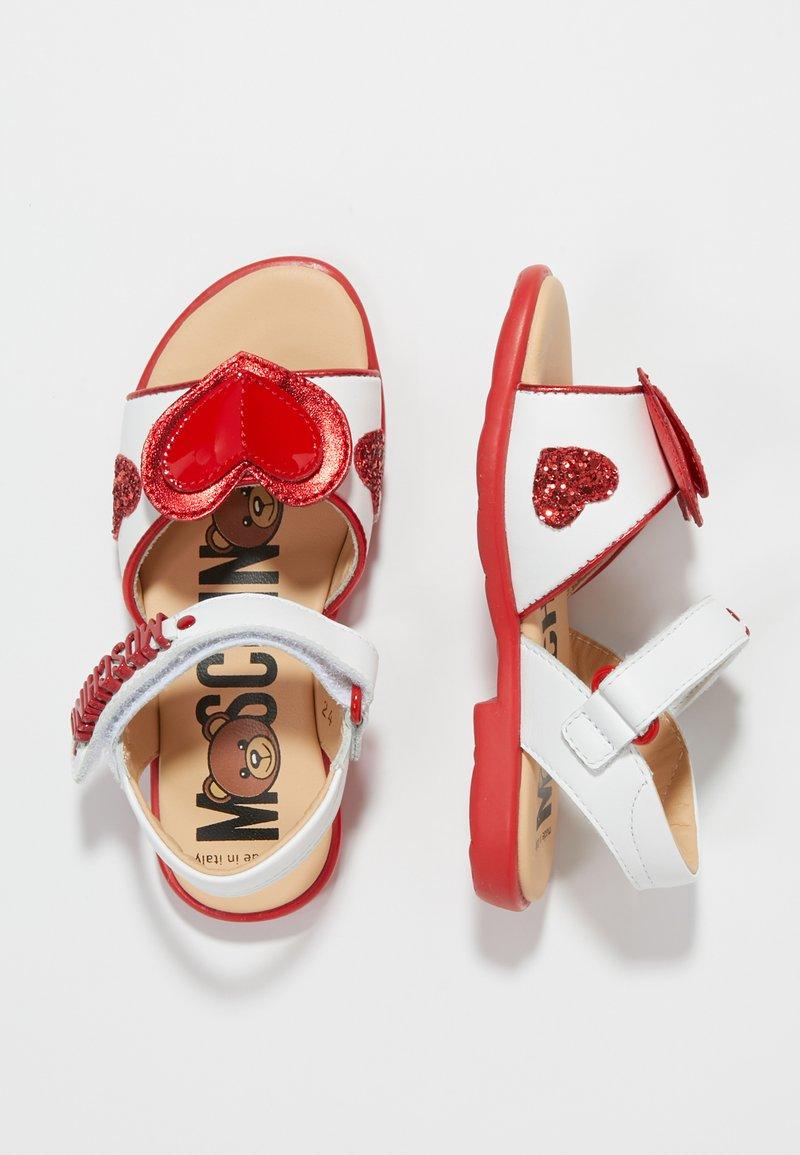 MOSCHINO - Sandalias - bianco/rosso