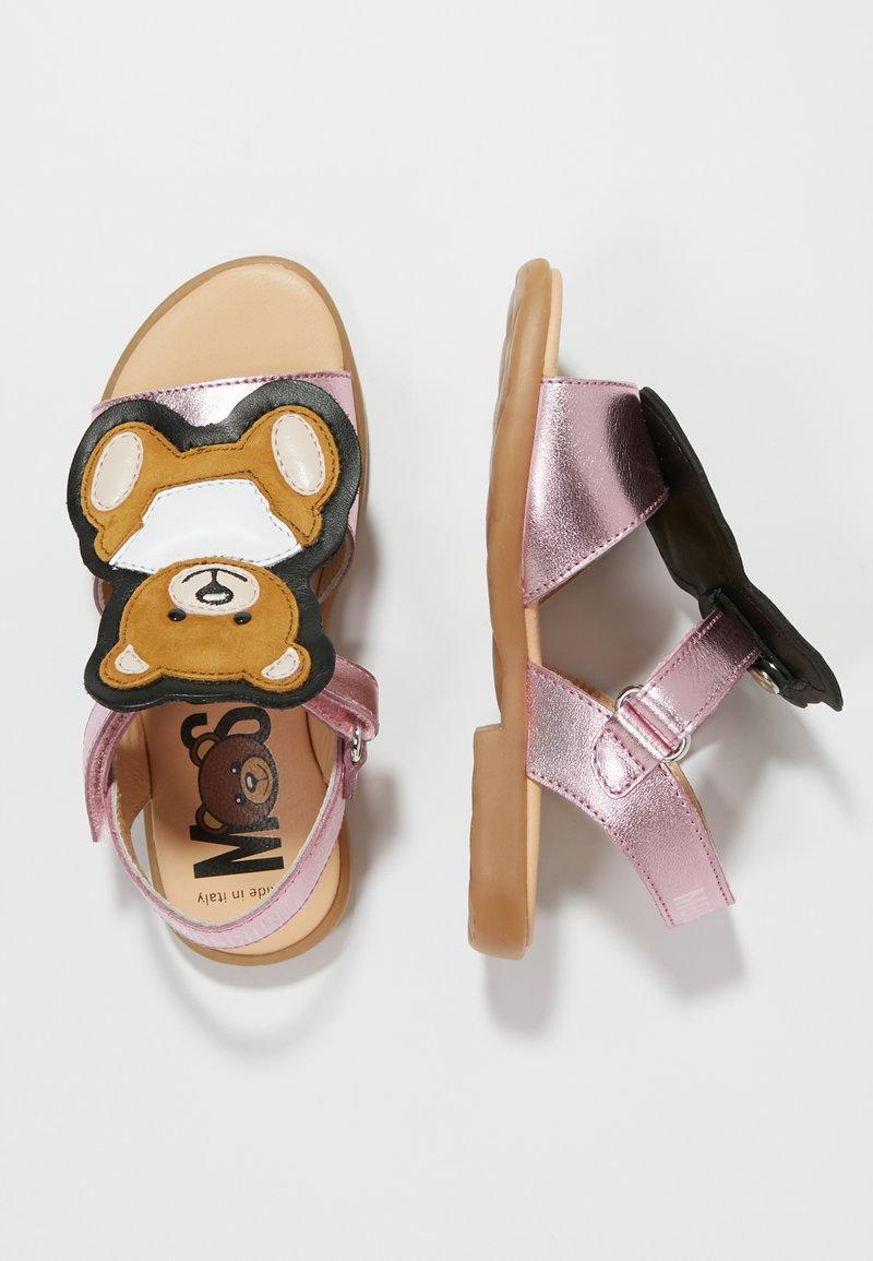 MOSCHINO - Sandals - laminato rosa