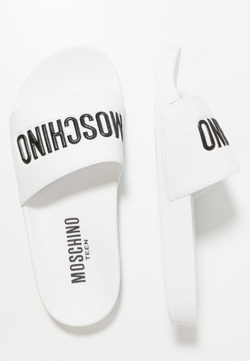 MOSCHINO - Pantofle - bianco/nero