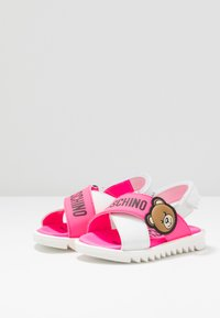 MOSCHINO - Sandals - white/neon pink - 3