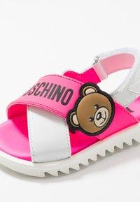 MOSCHINO - Sandals - white/neon pink - 2