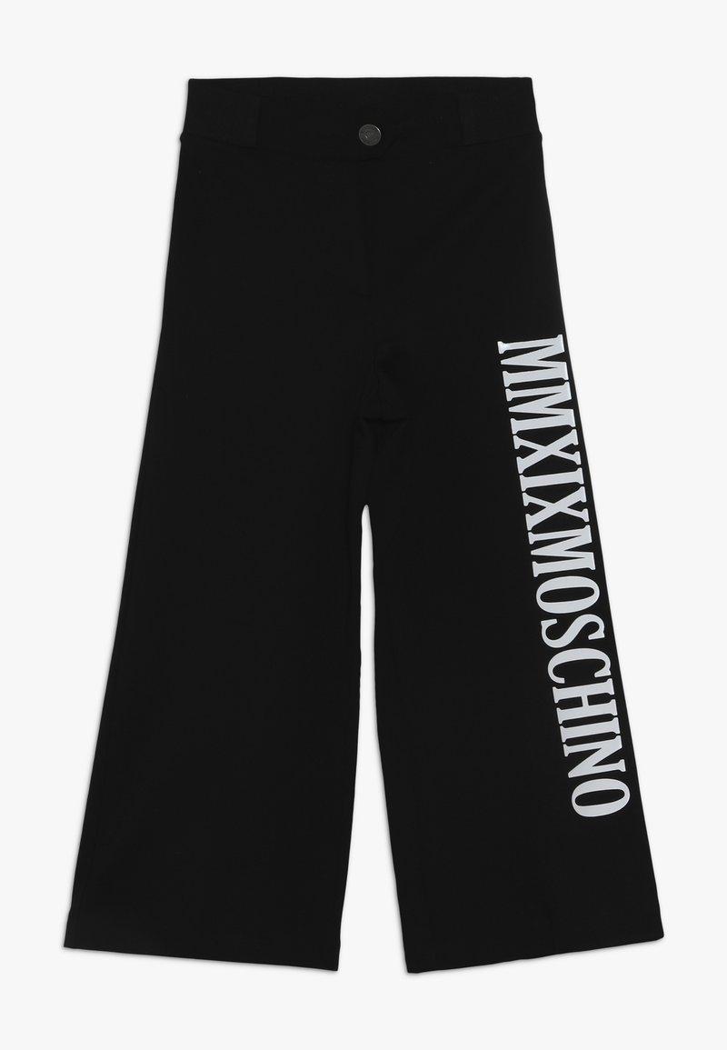 MOSCHINO - TROUSERS - Kangashousut - black