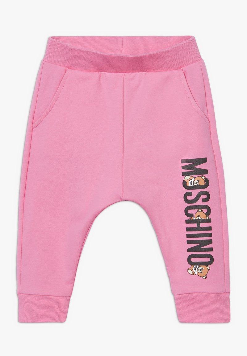 MOSCHINO - Teplákové kalhoty - dark pink