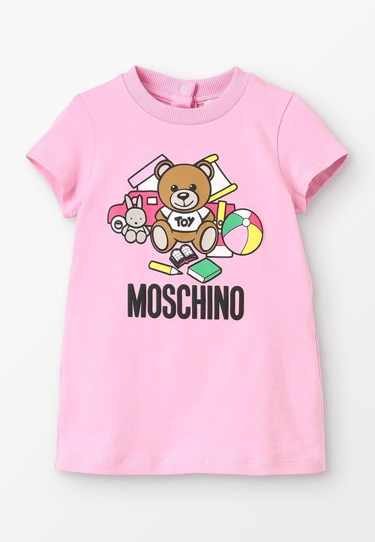 MOSCHINO - DRESS GIRL - Trikoomekko - begonia rose