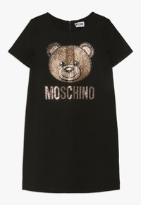 MOSCHINO - DRESS - Žerzejové šaty - black - 0