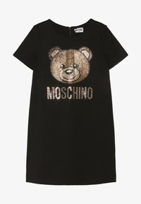MOSCHINO - DRESS - Žerzejové šaty - black