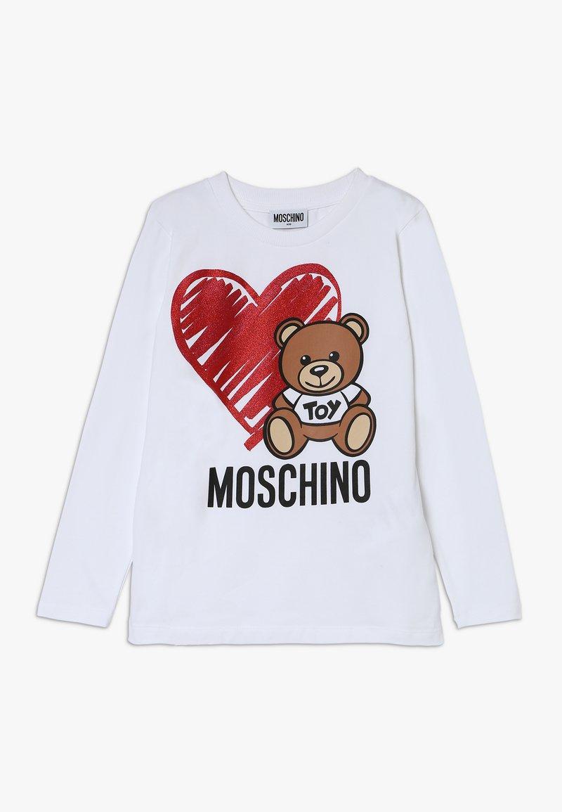 MOSCHINO - Pitkähihainen paita - optic white