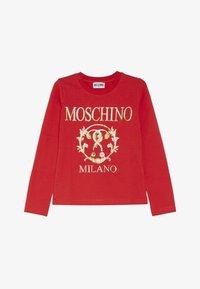 MOSCHINO - T-shirt à manches longues - poppy red - 2