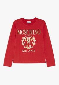 MOSCHINO - T-shirt à manches longues - poppy red - 0