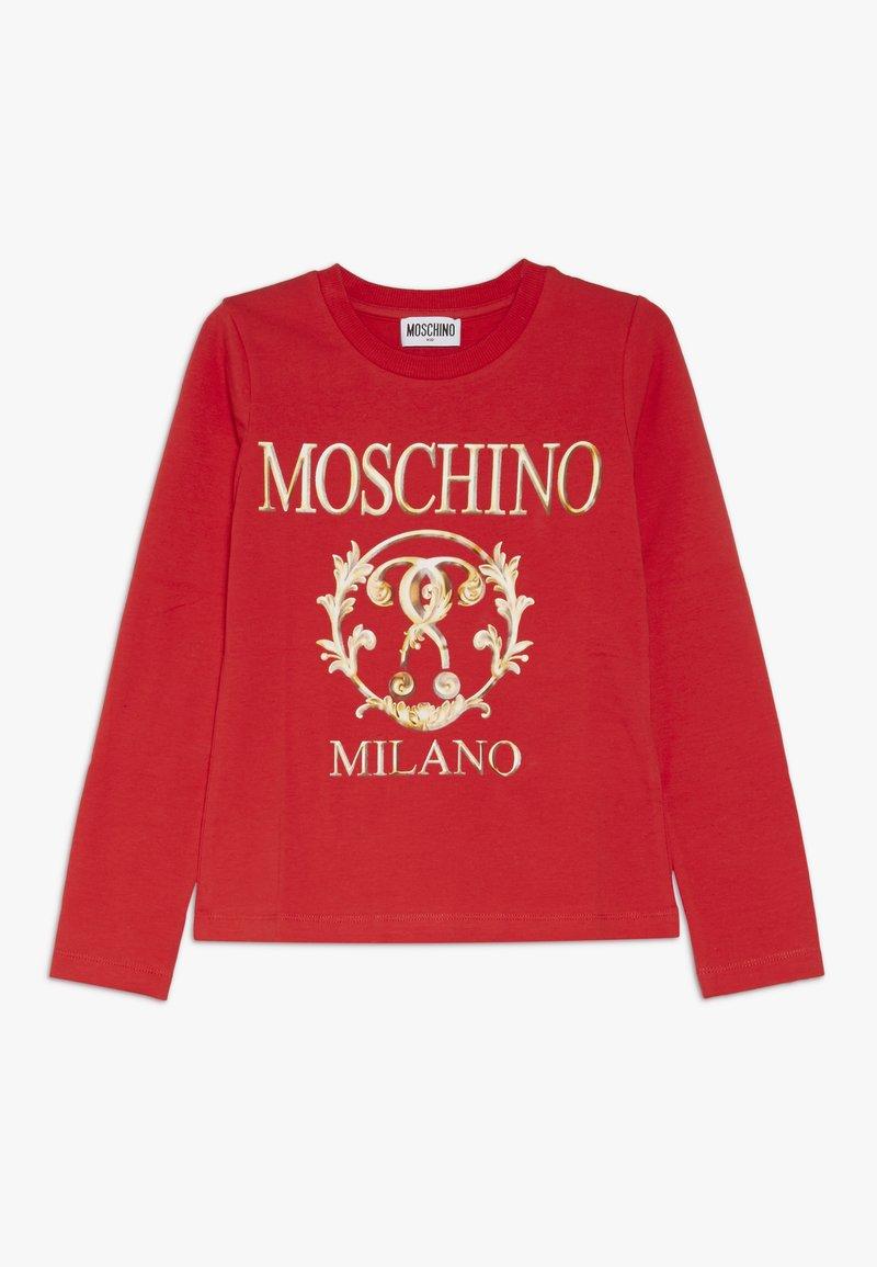 MOSCHINO - T-shirt à manches longues - poppy red