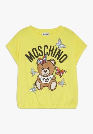 T-shirt imprimé - blazing yellow