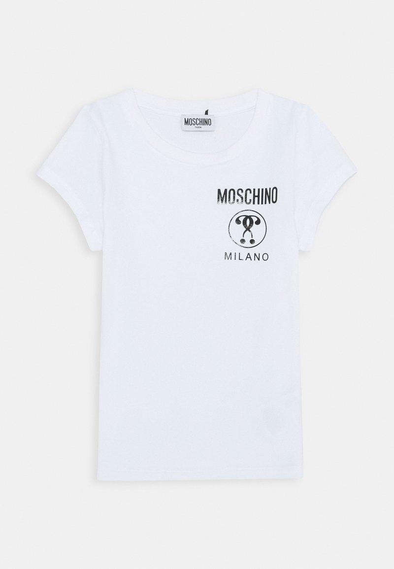 MOSCHINO - Triko spotiskem - optic white