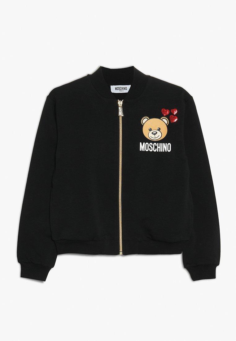 MOSCHINO - veste en sweat zippée - nero/black