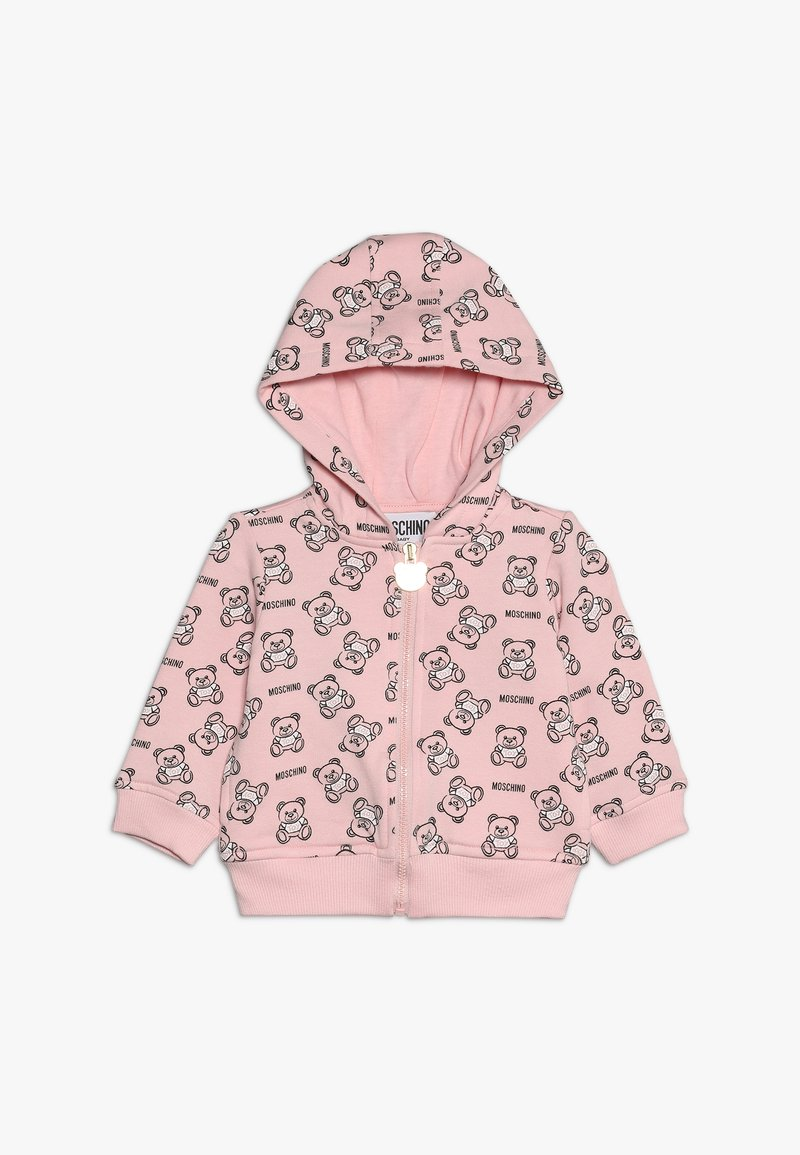 MOSCHINO - HOODED - Zip-up hoodie - rose