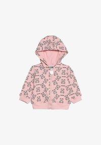 MOSCHINO - HOODED - Zip-up hoodie - rose - 3