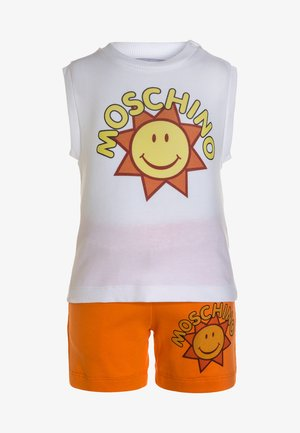 TANK SET - Pantalon de survêtement - optic white/orange