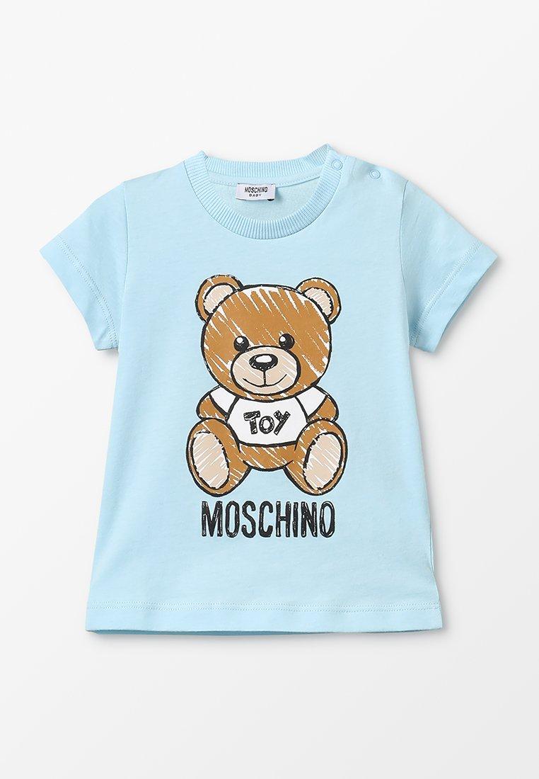 MOSCHINO - MAXI BABY UNISEX - Camiseta estampada - sky blue