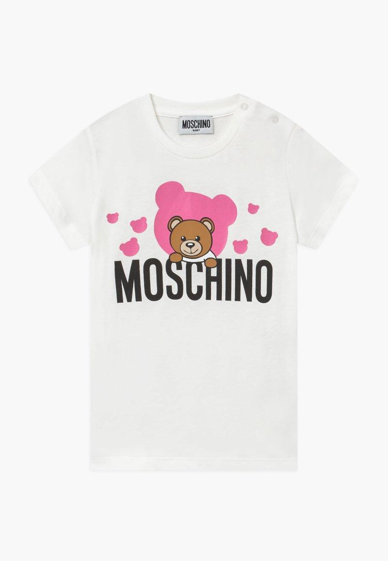 MOSCHINO - MAXI - Triko spotiskem - cloud/rose