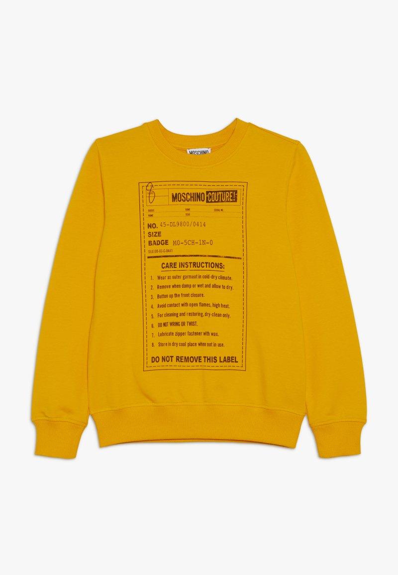 MOSCHINO - Sweatshirt - dark yellow