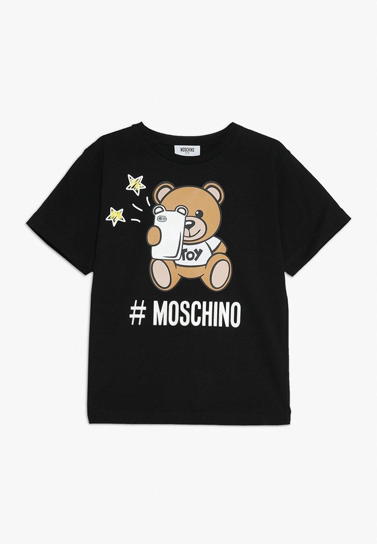 MOSCHINO - MAXI - Printtipaita - nero/black