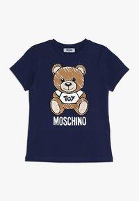 MOSCHINO - Print T-shirt - blu navy - 0