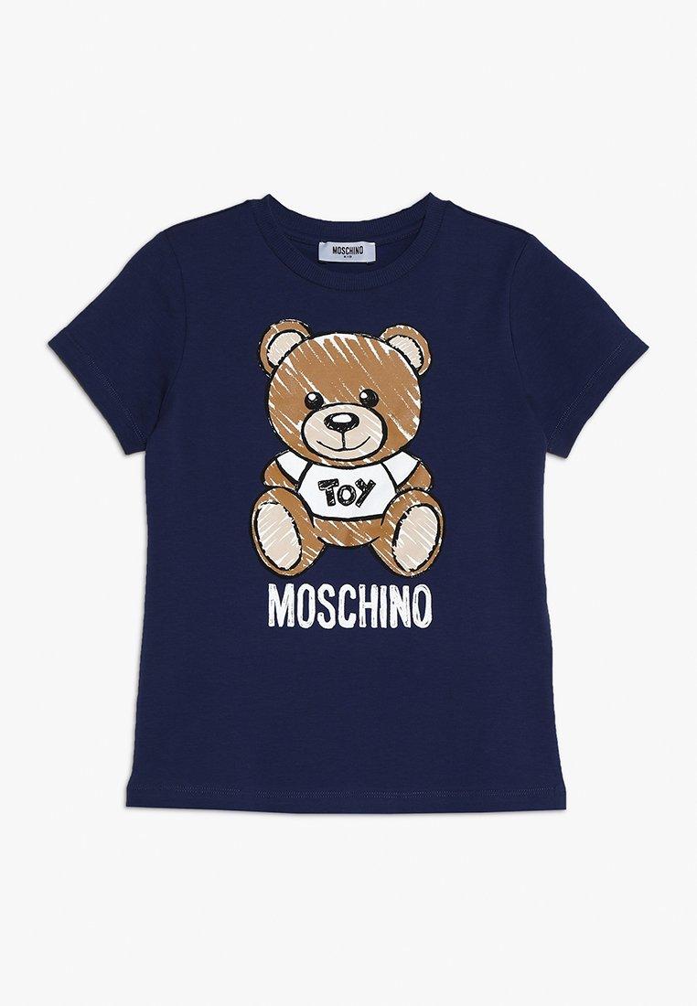 MOSCHINO - Print T-shirt - blu navy