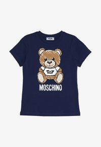 MOSCHINO - Print T-shirt - blu navy - 2