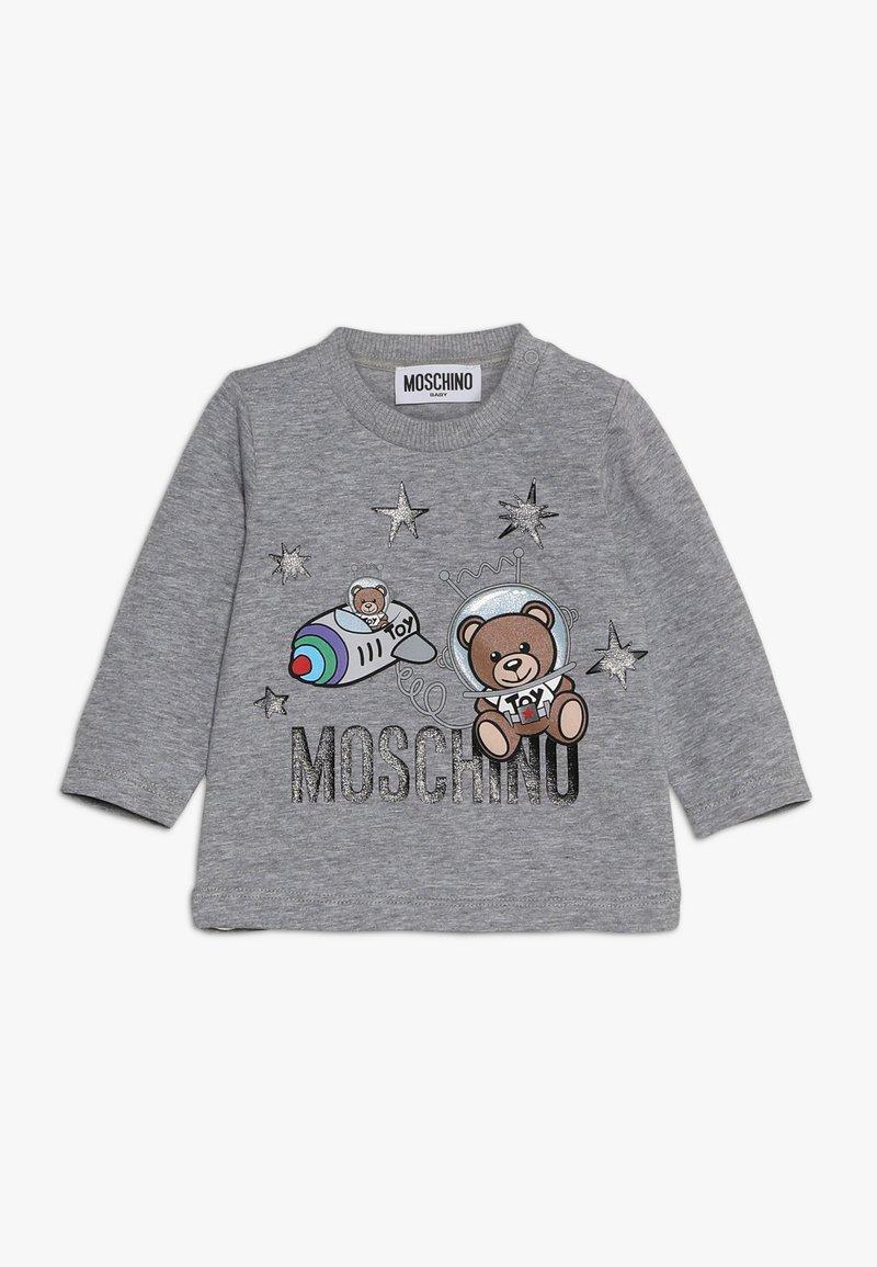 MOSCHINO - Long sleeved top - grigio melange