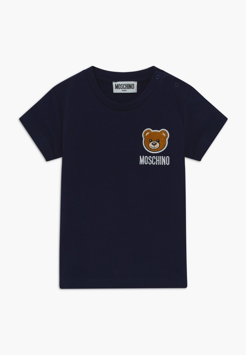 MOSCHINO - MAXI - Print T-shirt - navy blue