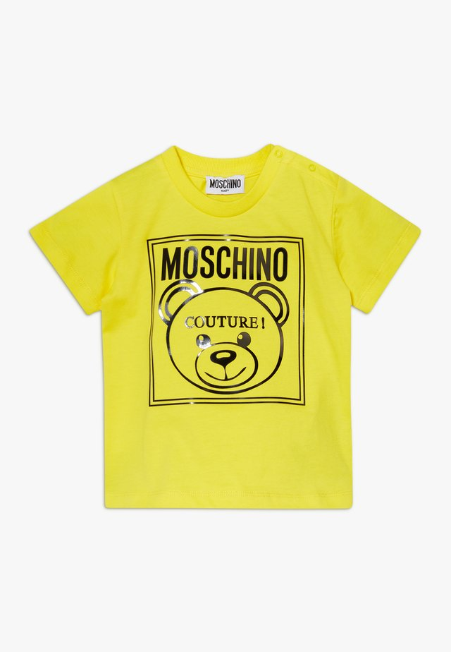 T-shirt med print - blazing yellow