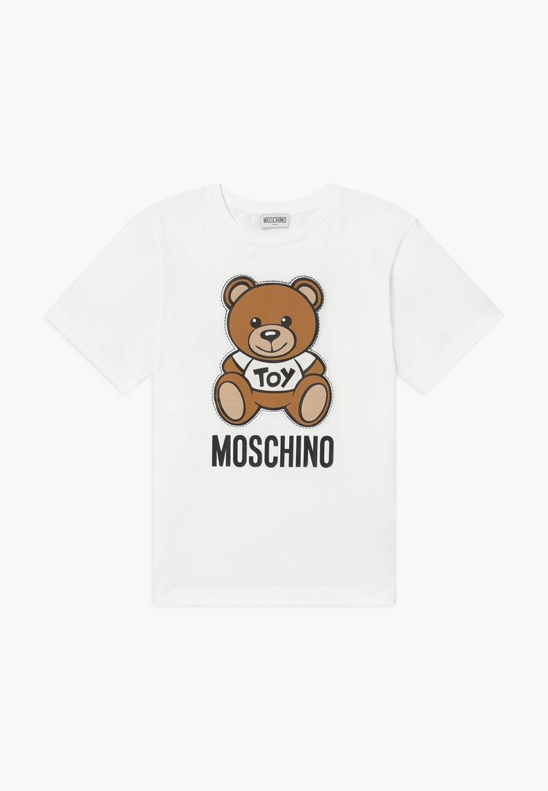 MOSCHINO - MAXI  - Printtipaita - optical white