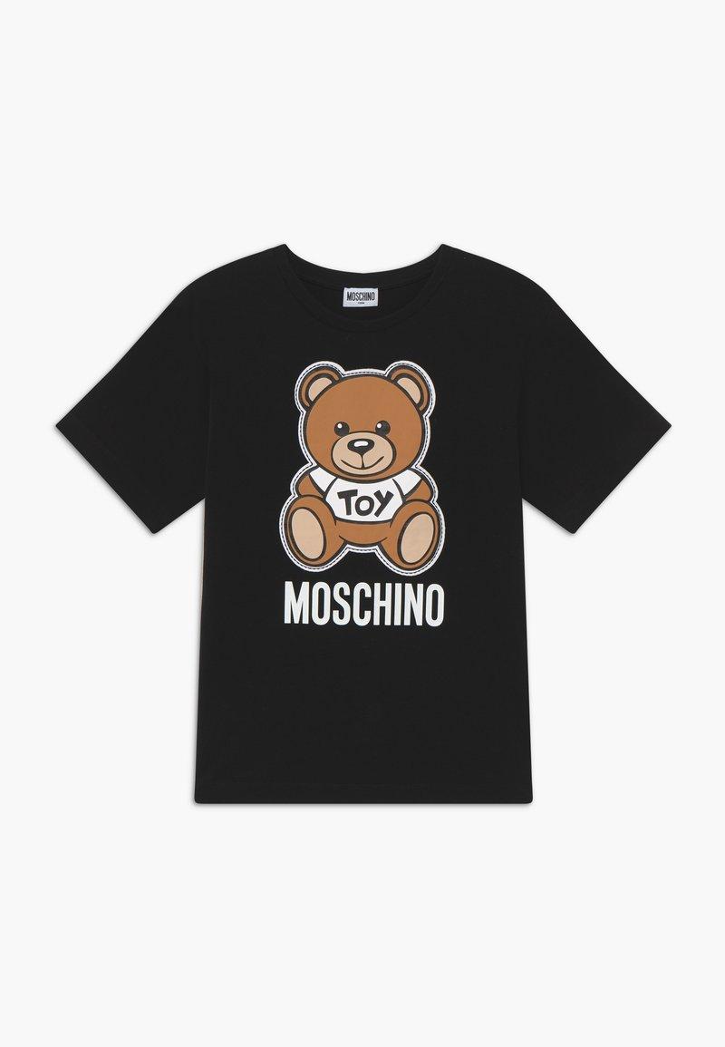 MOSCHINO - MAXI  - T-shirt imprimé - black
