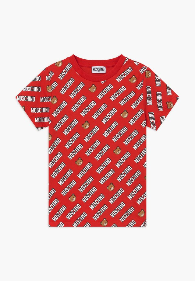 T-shirt print - poppy red