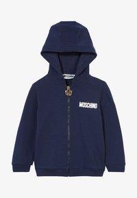 MOSCHINO - HOODED - Zip-up hoodie - navy blue - 2