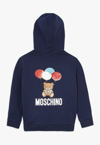 MOSCHINO - HOODED - Mikina na zip - navy blue - 1