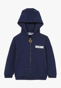 MOSCHINO - HOODED - Zip-up hoodie - navy blue - 0