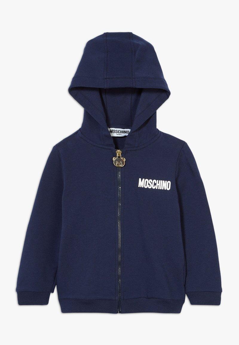 MOSCHINO - HOODED - Mikina na zip - navy blue