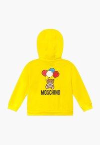 MOSCHINO - HOODED - Zip-up hoodie - blazing yellow - 1