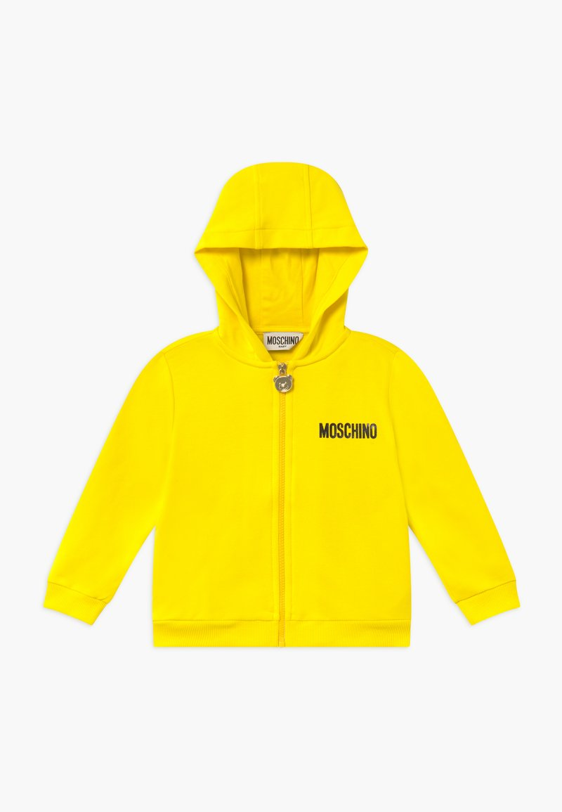 MOSCHINO - HOODED - Zip-up hoodie - blazing yellow