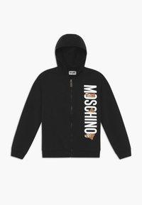 MOSCHINO - ADDITION - Hoodie met rits - black - 0
