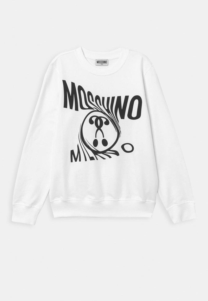 MOSCHINO - Mikina - optical white