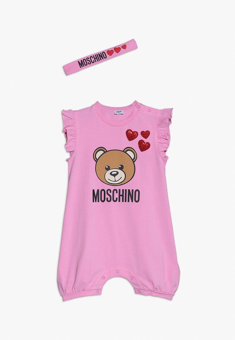 MOSCHINO - ROMPER HEADBAND GIFT BABY GIRL - Geboortegeschenk - begonia rose