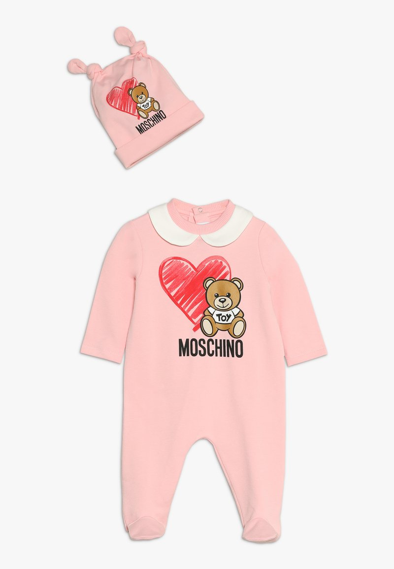 MOSCHINO - BABYGROW AND HAT GIFT SET - Overall - sugar rose