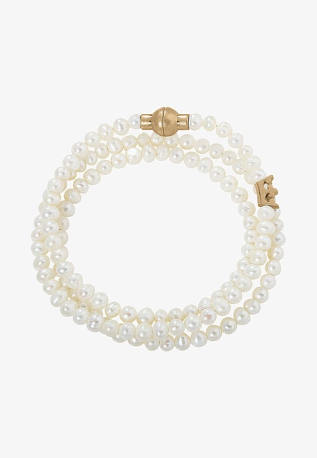 Bracelet - white / gold-coloured