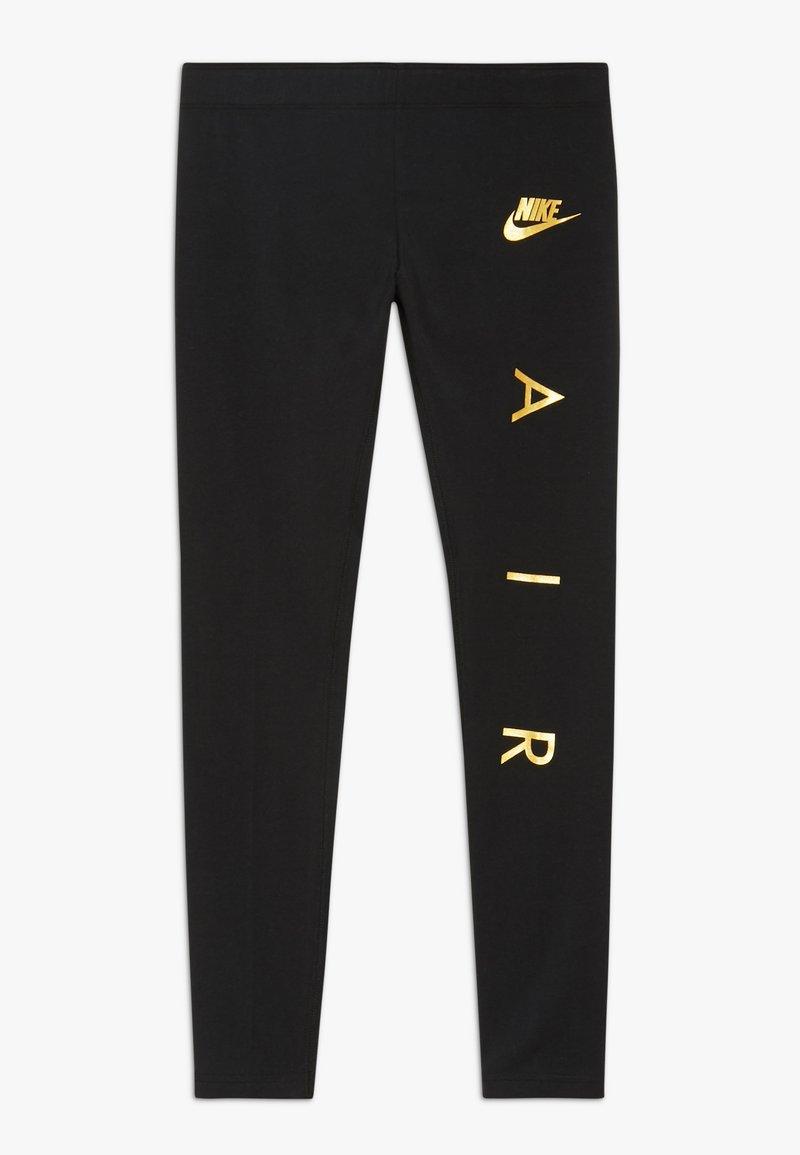 Nike Sportswear - FAVORITES AIR - Legginsy - black/metallic gold